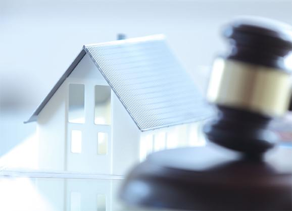 Gavel Next to Real Estate