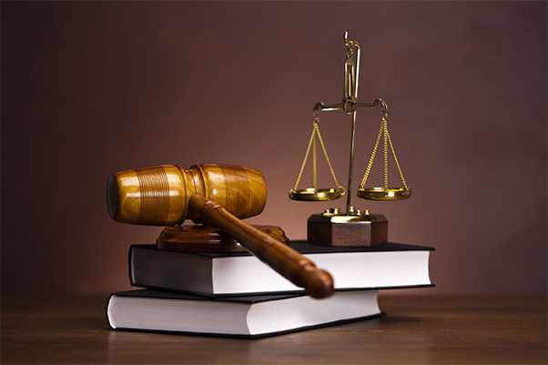 Gavel, Scales of Justice, Books